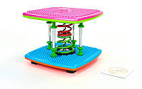 Степпер тренажер Dance Stepper Twist Run FI-4813 (металл, пластик, +DVD, р-р 36x36x28см)