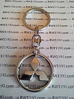 Брелок для ключей металлический оригинальный марка авто Mitsubishi, фото 1