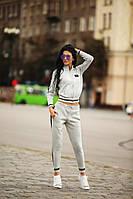 Женский спортивный костюм в расцветках e-140545 электрик