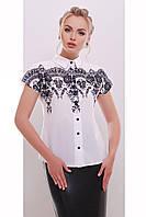 Белая женская блузка с принтом , фото 1