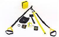Петли подвесные тренировочные TRX  PRO PACK P3 HOME FI-3726-05 (функц.петли,двер. креп,черный-желтый)