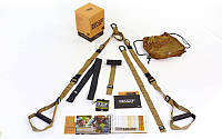 Петли подвесные тренировочные TRX  TACTICAL FORCE T3 FI-3725-04 (фун.петли, обрезин. ручки, хаки)