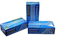 Перчатки нитриловые, текстурированные, неопудренные, синие (100шт/уп) Doman