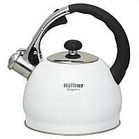 Чайник металлический Hoffner cо свистком 2.0l индукция, газ, электрика