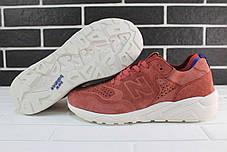 Мужские кроссовки New Bаlance 580 Bordo бордовые топ реплика, фото 3
