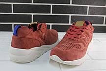 Мужские кроссовки New Bаlance 580 Bordo бордовые топ реплика, фото 2