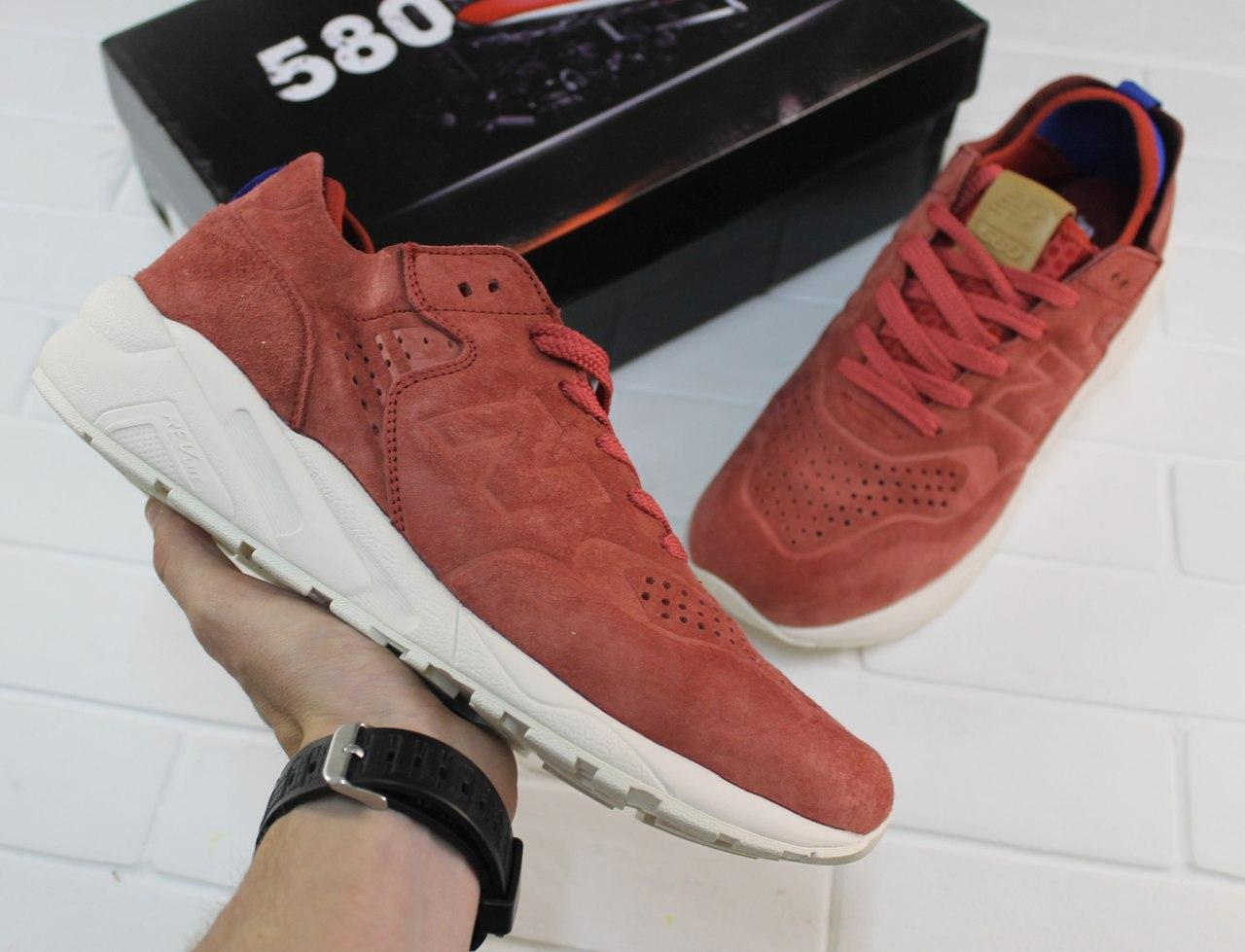 Мужские кроссовки New Bаlance 580 Bordo бордовые топ реплика