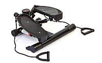 Мини-степпер HC-1545 (металл,пластик,р-р 57x24x46см,вес польз.до 100кг,счетчик,2эспанд,крас,сер,чер)