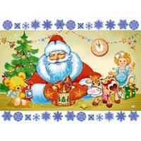 Cake Deco Вафельная картинка A4 Новый год, Рождество 7