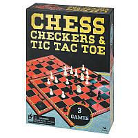 Набор из трех настольных игр Шахматы, шашки и крестики-нолики Spin Master (SM98377/6033146)