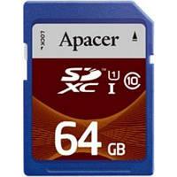 Карта памяти Apacer SDXC UHS-I Class10 64GB RP (AP64GSDXC10U1-R)