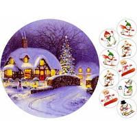 Cake Deco Вафельная картинка A4 Новый год, Рождество 1