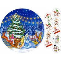 Cake Deco Вафельная картинка A4 Новый год, Рождество 2