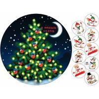 Cake Deco Вафельная картинка A4 Новый год, Рождество 18