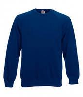 Классический мужской свитер реглан Fruit of the Loom 62-216-0 62-216-0 32 Темно-Синий, L