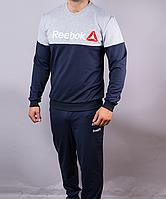"Мужской спортивный костюм ""Reebok Crossfit"" темно-синий светло-серый"