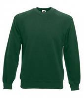 Классический мужской свитер реглан Fruit of the Loom 62-216-0 62-216-0 38 Темно-Зеленый (Бутылочный), M