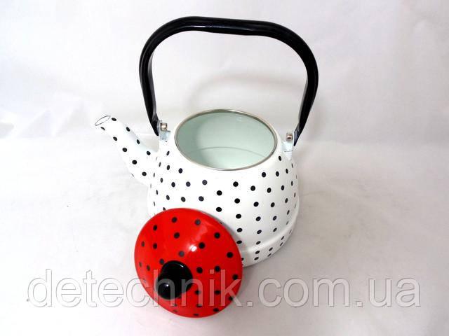 Чайник газовый эмалированный