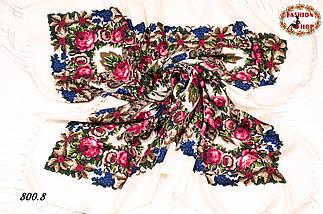 Кремовый павлопосадский платок Непревзойдённая роспись, фото 2