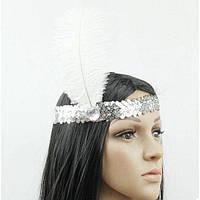 Повязка для карнавала белая