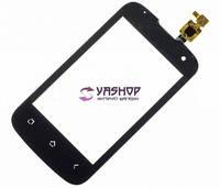 Сенсор (тачскрин) Fly IQ430 Evoke черный (большой конектор, с камерой)