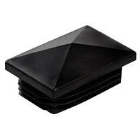Заглушка 40Х60 мм пластиковая прямоугольная для профильной трубы пирамида черная