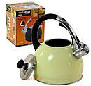 Чайник металлический Hoffner cо свистком 2.0l индукция, газ, электрика, фото 3