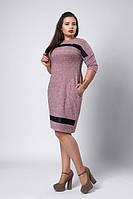 Женское платье с карманами в боковых швах
