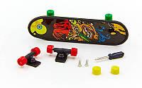 Фингерборд-мини скейт 2010-C1 (1фингерборд, 2зап.колеса, 1отвер, 2винтика, 2зап.подвески)