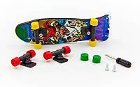 Фингерборд-мини скейт 2010C2 (1фингерборд,2зап.колеса,1отвер,2винтика,2зап.подвески,пластик,металл)
