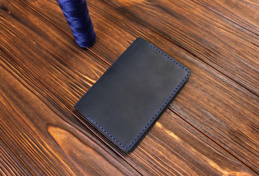 Обложка для паспорта ручной работы VOILE vl-pc1-blu