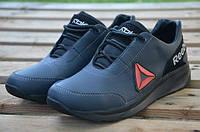 Мужские кожаные кроссовки Reebok 12185 подростковые темно-синие