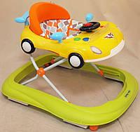 Детские ходунки Baby Mix UR-1303-NA2 авто, желтый/зеленый