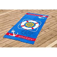 Полотенце Lotus пляжное Lifebuoy 75х150см велюр