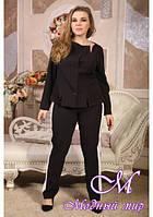 Женские черно-белые брюки больших размеров (р. 48-90) арт. Купидон