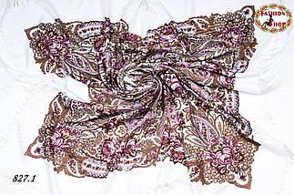 Павлопосадская шаль Вальс цветов, фото 2