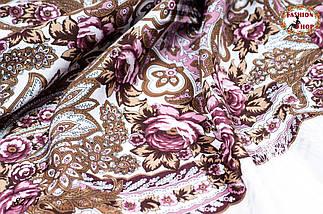 Павлопосадская шаль Вальс цветов, фото 3