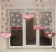 Японские панельки Лютики розовые, 1,5м, фото 1