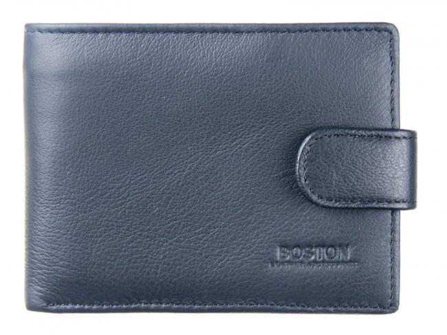 Классический мужской портмоне из натуральной кожи в италийском стиле BOSTON (B1-001 Black)