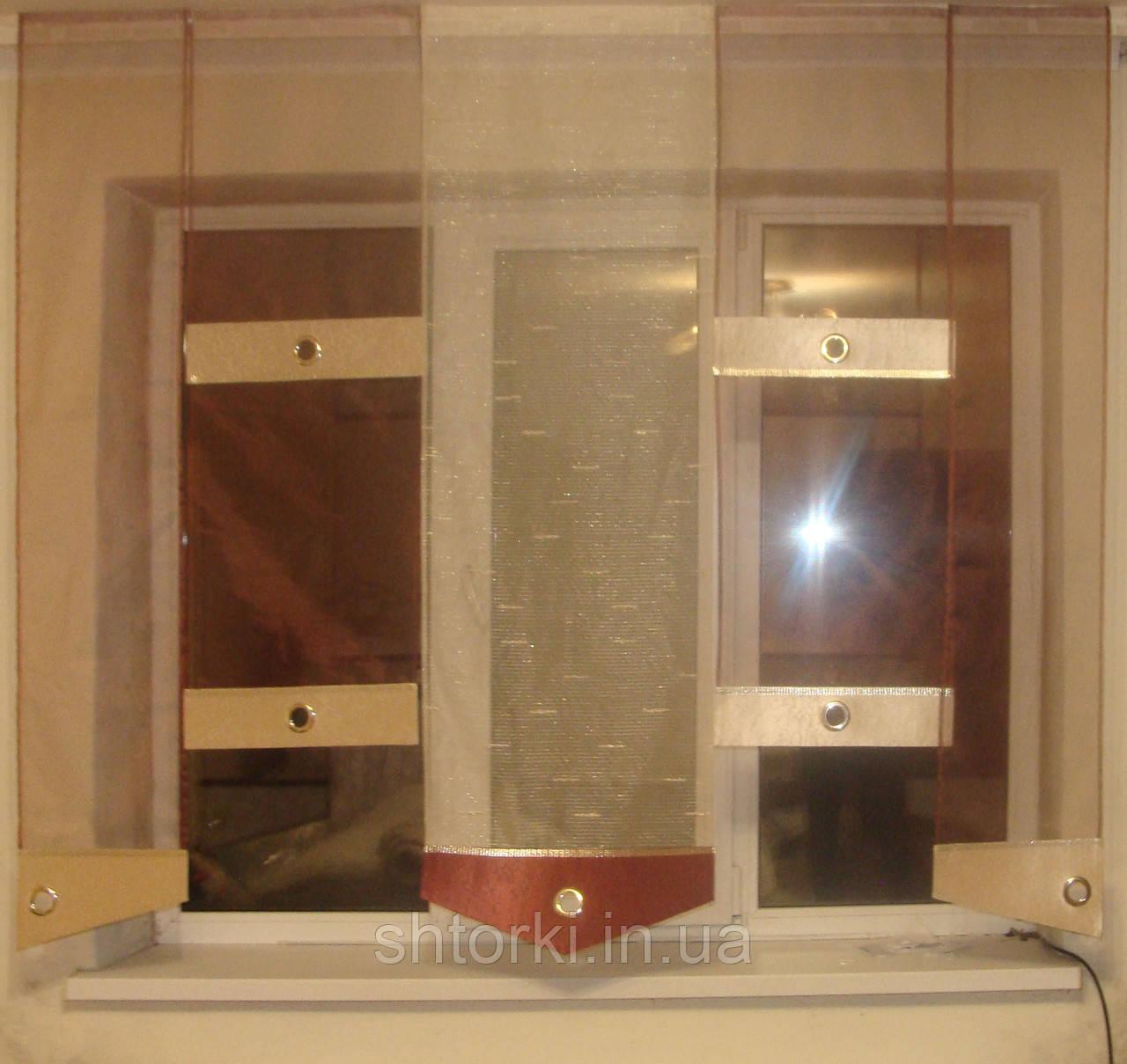 Японские панельки Сеточка терракот , 1,80м
