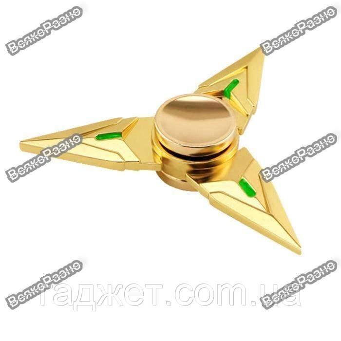 Треугольный ручной спиннер  -  Золотой