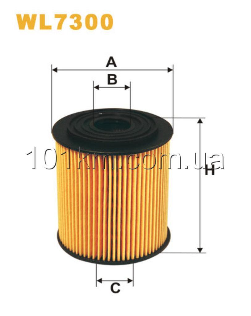 Фильтр масляный WIX WL7300 (OE672)