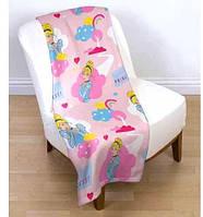 Детский флисовый плед 120х150 Disney Принцессы Диснея для девочки