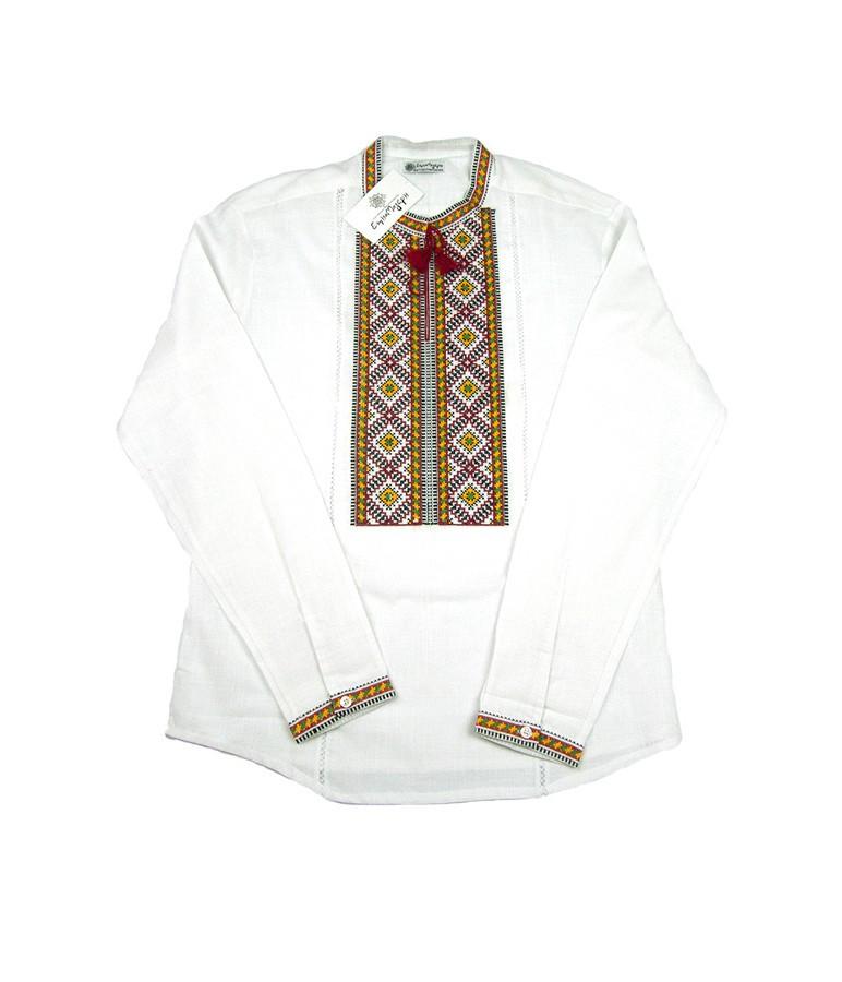 Чоловіча вишита сорочка. Біла сорочка вишита гладдю. Святкова сорочка.  Чоловіча вишиванка. 9554cb726d6fb