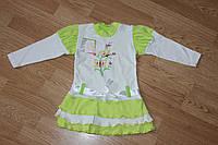 Платье Даша. Зеленый. Интерлок, фото 1
