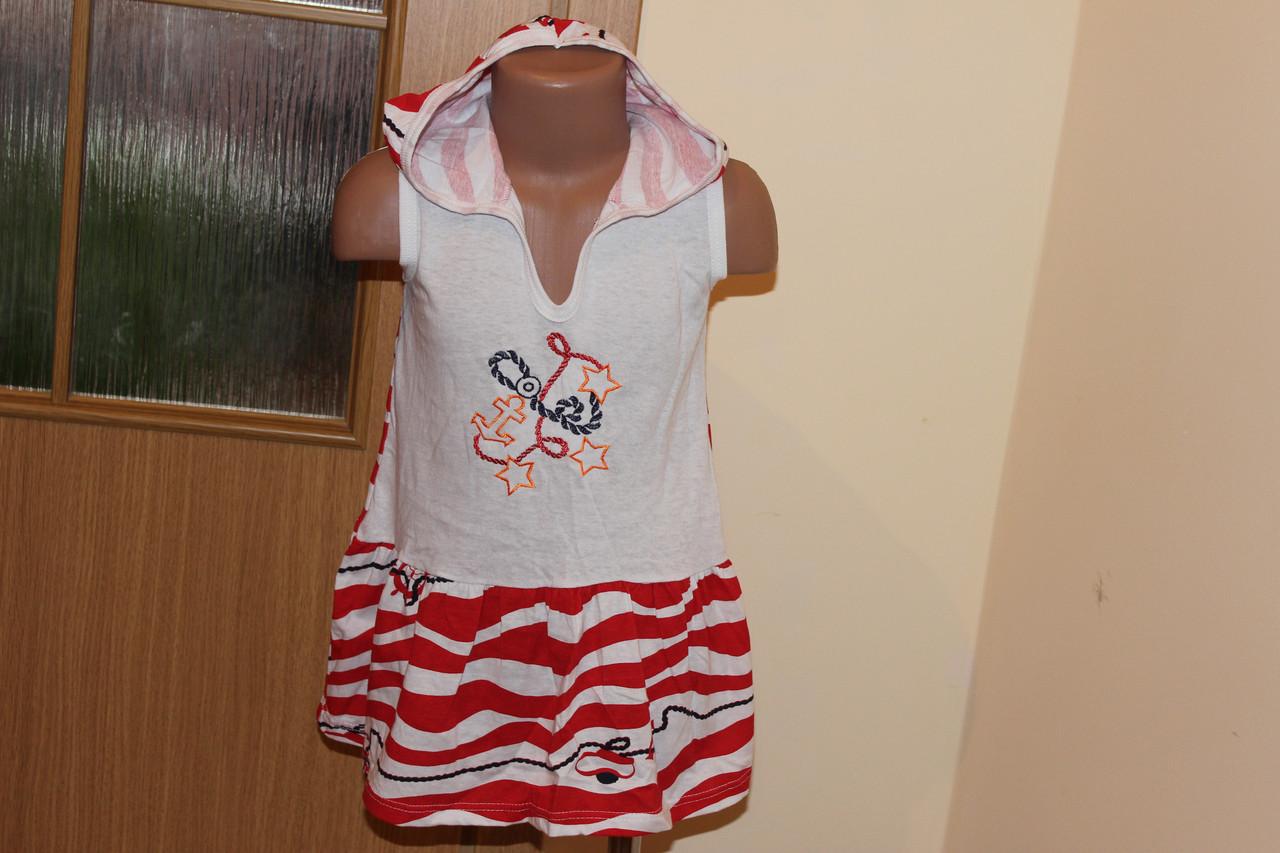 Детское платье с капюшоном Море Размер 4 - 5 лет