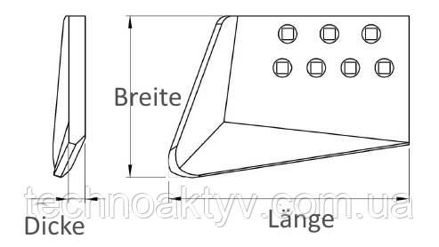 Экскаваторный нож левый 10303798  - строгальный нож для Liebherr - ножи для отвалов и ковшей