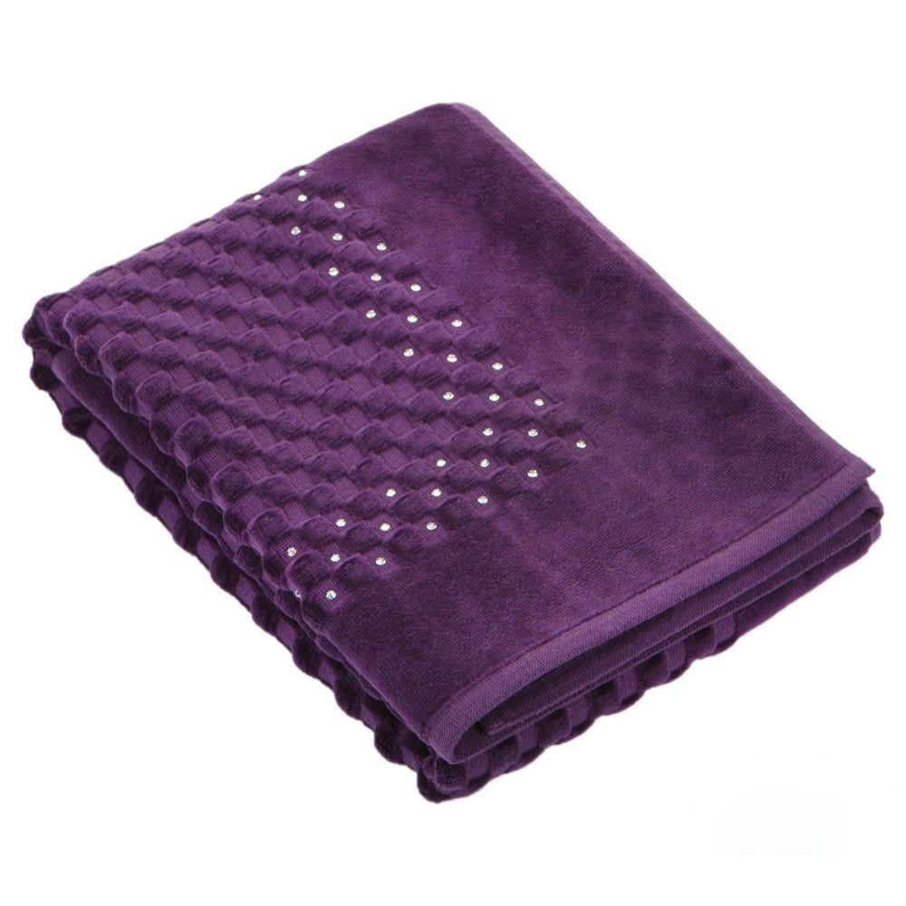 Банный коврик с Кристаллами SWAROVSKI с антибактериальной защитой Фиолетовый