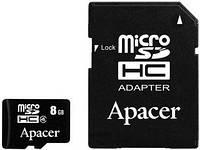 Карта памяти microSD Apacer 8 GB class 4 + Adapter
