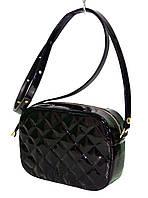 Стёганая сумочка через плечо лаковая, фото 1